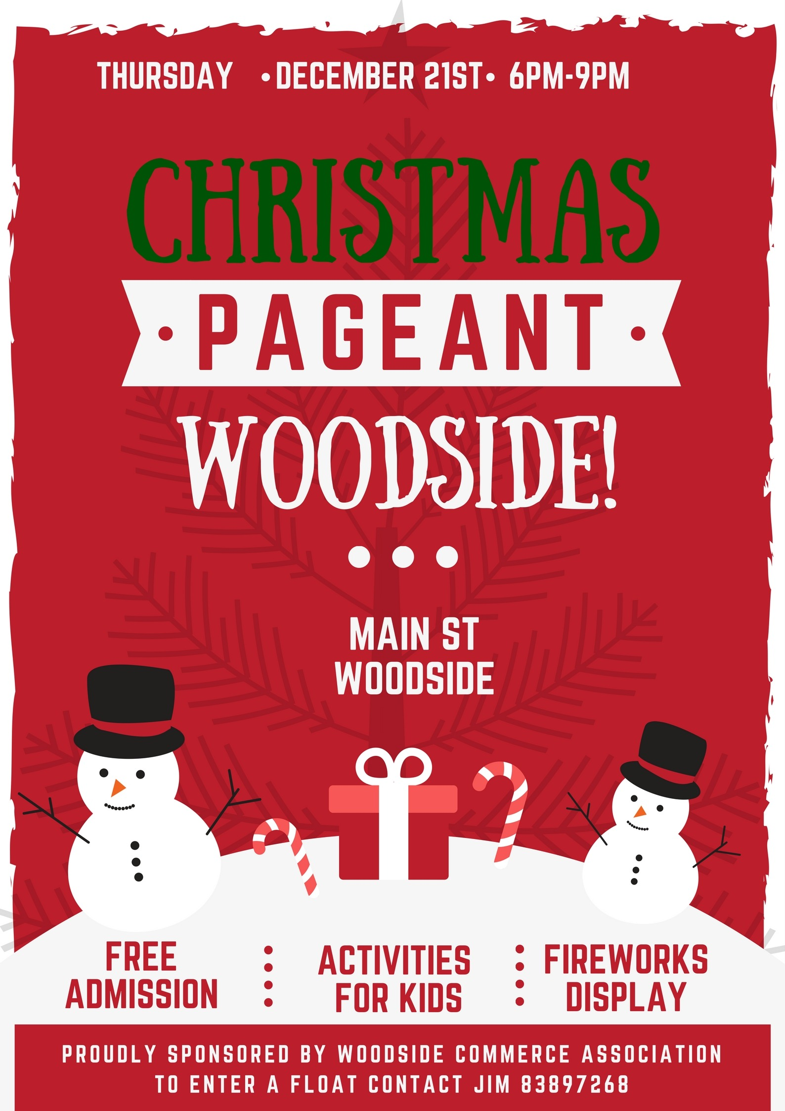 Woodside Christmas Parade and fireworks