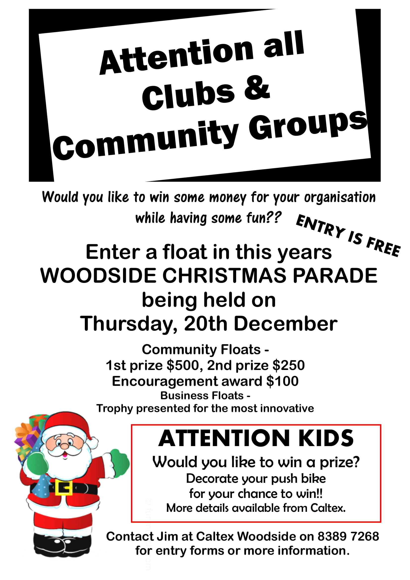 Poster - Woodside Christmas Pageant 2018